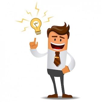 Zakenman met een geweldig idee