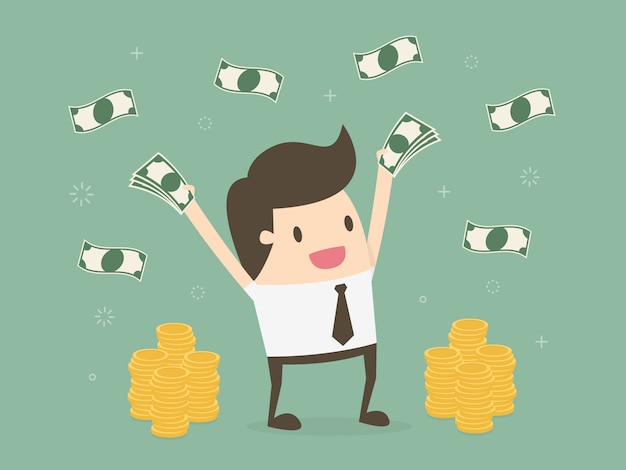 Zakenman met geld