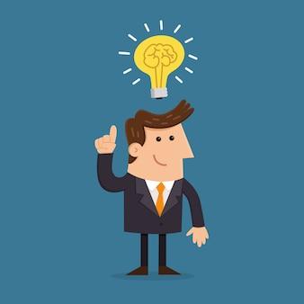 Zakenman met nieuw idee