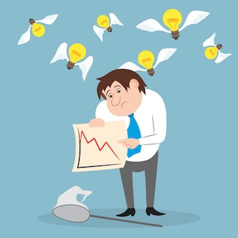 Zakenman ongelukkig met aandelenhandel