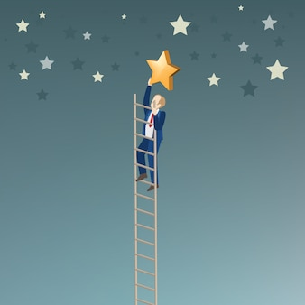 Zakenman pakt de ster op