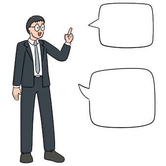 Zakenman praten