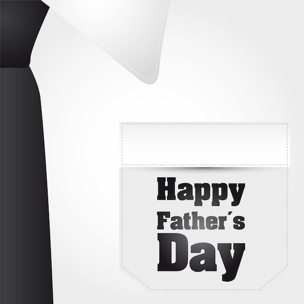 Zakenman t-shirt achtergrond gelukkige vaders dag vector