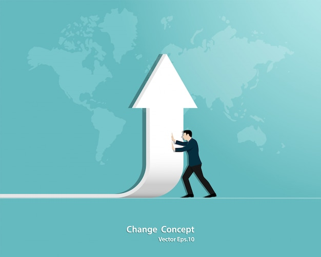 Zakenman van richting veranderen
