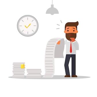 Zakenman verwarde rekening