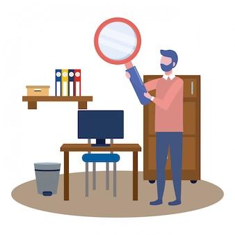 Zakenmens avatar van cartoon