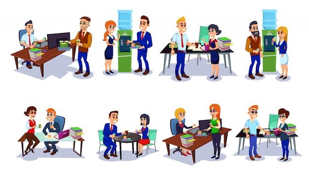 Zakenmensen die pauze koffie tijd op kantoor.