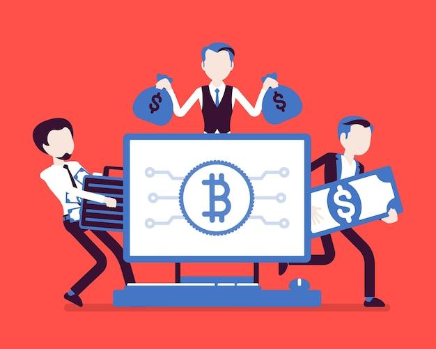 Zakenmensen, ervaren handelaren en investeerders