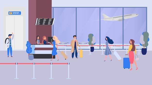 Zakenmensen in luchthaventerminal, veiligheidscontrole, controlepost, beveiliging, beveiligingspoort, luchthavenbeveiliging, zakenreizen.