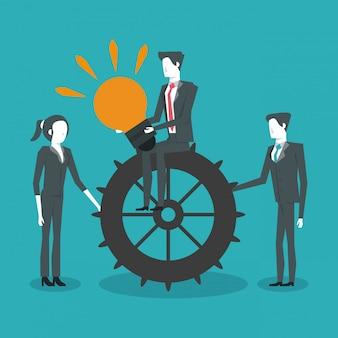 Zakenpartners ondernemerschap