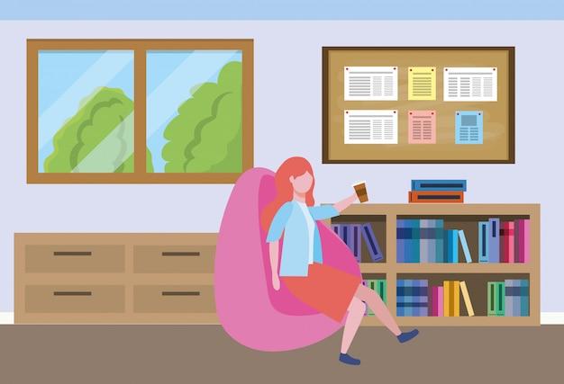 Zakenvrouw avatar cartoon