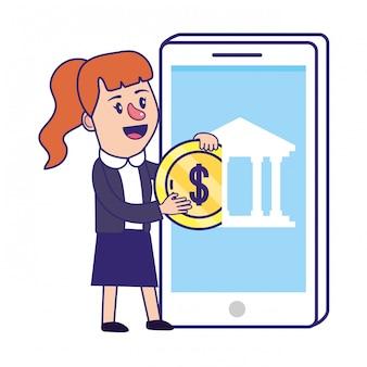 Zakenvrouw bankieren financiële planning