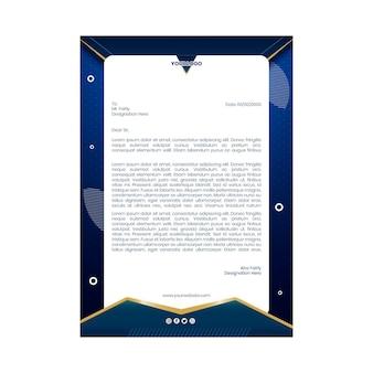 Zakenvrouw briefpapier sjabloon