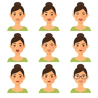 Zakenvrouw expressies avatar