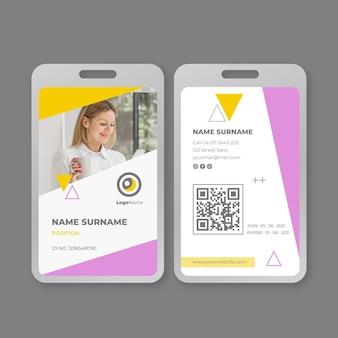 Zakenvrouw id-kaartsjabloon