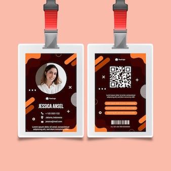 Zakenvrouw identiteitskaart