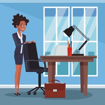 Zakenvrouw op kantoor
