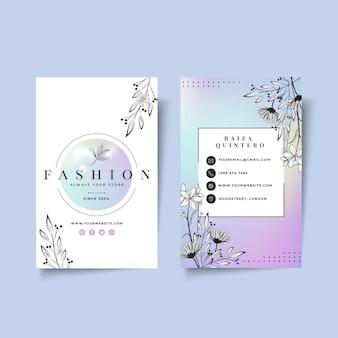 Zakenvrouw visitekaartjesjabloon met elegante elementen