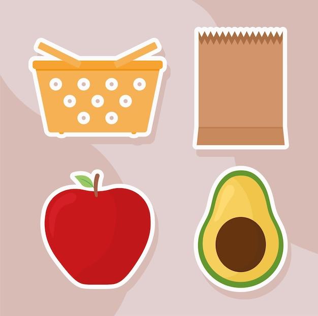 Zakken en fruit