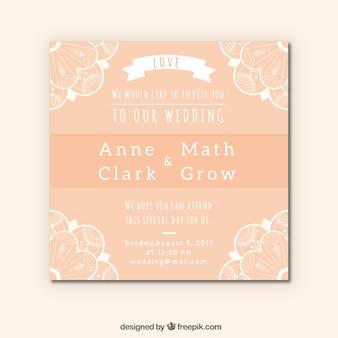 Zalm bruiloft kaart mandala ontwerp