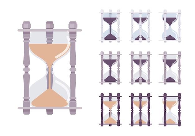 Zandloper klok set