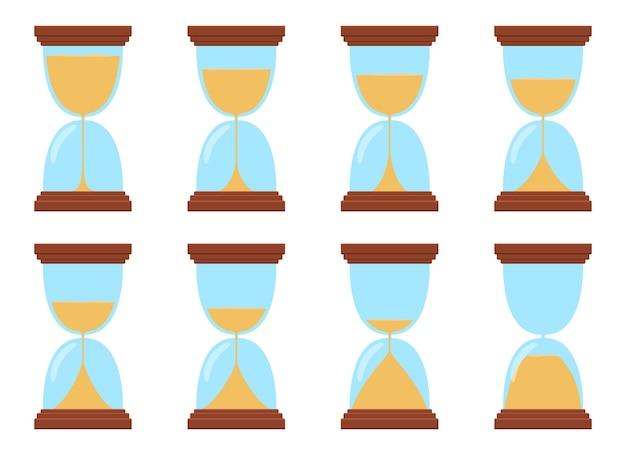 Zandloper ontwerp illustratie geïsoleerd op een witte achtergrond