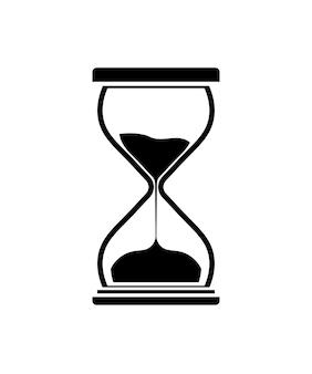 Zandloper pictogram. zandloper timer zand als countdown illustratie