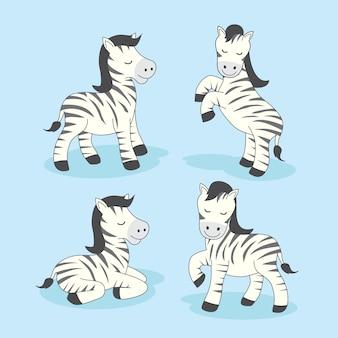 Zebra cartoon schattige dieren