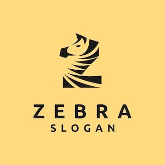 Zebra-logo met letter z-concept