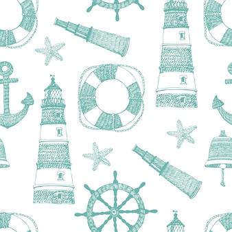 Zee blauw patroon