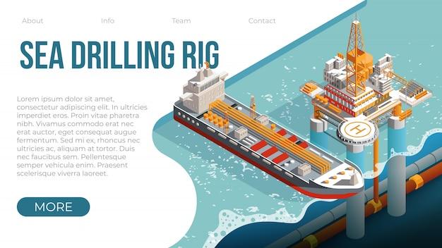 Zee boorplatform voor gas en aardolie