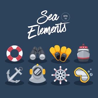 Zee elementen collectie