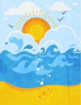 Zee golven abstracte achtergrond