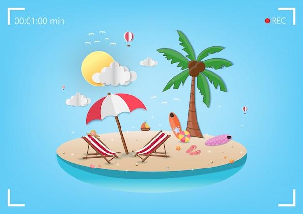 Zee in de zomer
