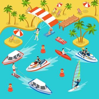 Zee luchtbed jacht boot kajak parasailen jetski surfen