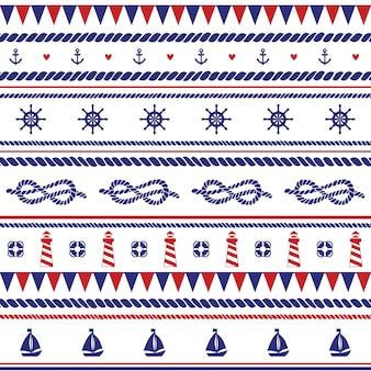 Zee vector naadloze patroon. kan worden gebruikt voor achtergronden, webpagina-achtergronden