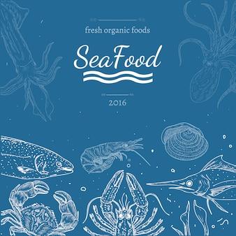 Zee voedsel achtergrond