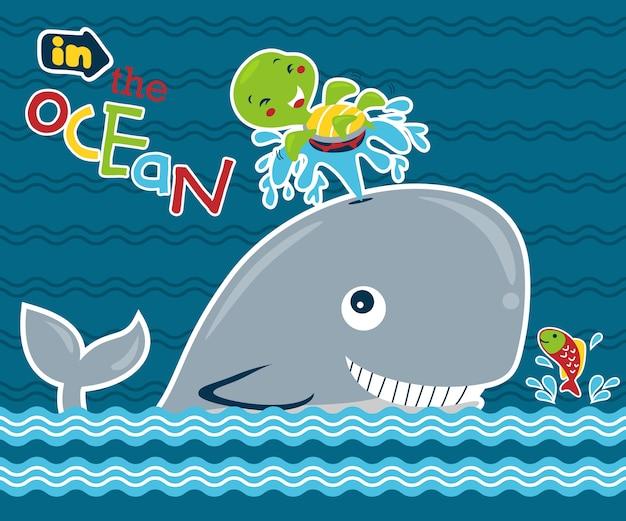 Zeedieren cartoon