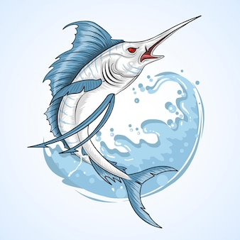 Zeeduivel visser marlin vis