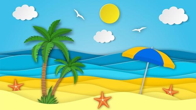 Zeelandschap met strand