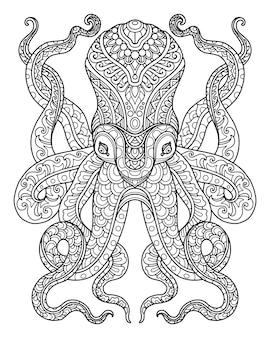 Zeeleven kleurplaat pagina illustratie en print ontwerp