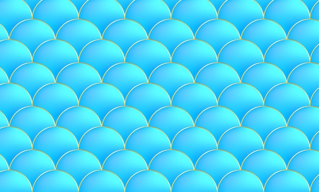 Zeemeermin kawaii patroon. vis schaal. .