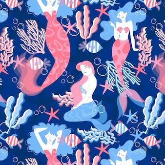 Zeemeermin patroon concept