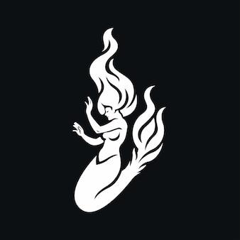 Zeemeermin pictogram illustratie