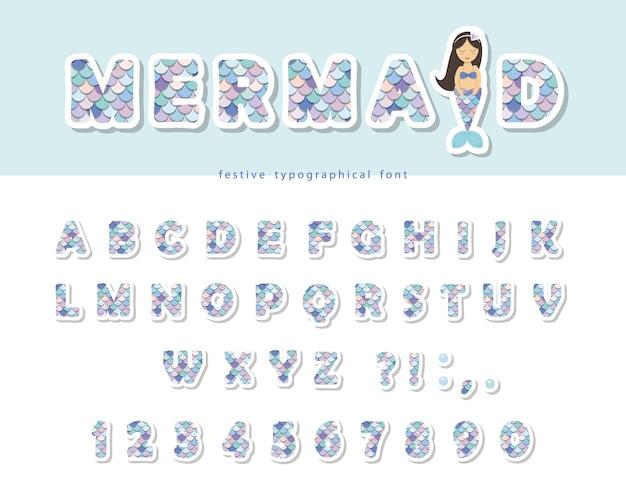 Zeemeermin schaal lettertype