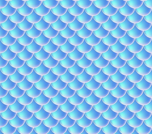 Zeemeermin schalen. vis squama. blauw naadloos patroon