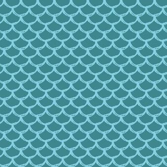 Zeemeermin staart naadloze patroon