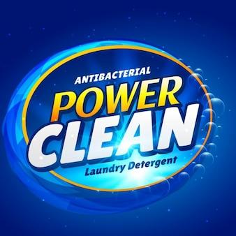 Zeep en launry detergent schoner verpakking van een product design template