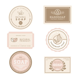 Zeep label collectie sjabloon