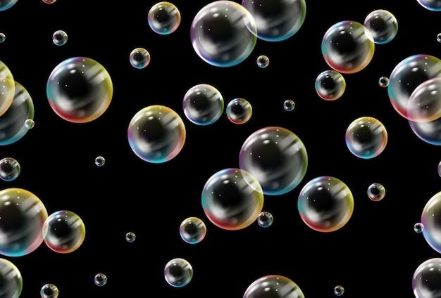 Zeepbellen naadloze patroon.